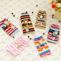Hand-woven cute wool phone set sweet doll personality physical shooting