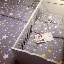 北欧风格ins爆款纯棉新生儿婴儿儿童幼儿园床品三件套 亲子款