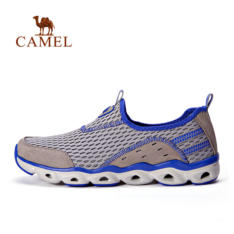 [couple models] Camel camel outdoor walking shoes spring and summer non-slip shock absorption breathable upstream low shoes