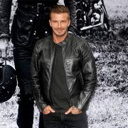 Beckham with motorcycle leather short coat collar men and Harley Metrosexual slim type PU leather jacket
