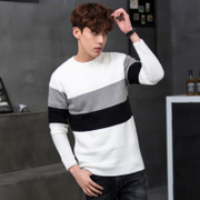Tonlion Men T-shirt sweater knit sweater sweater fashion color.