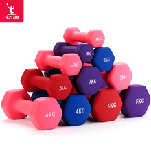 Women's small dumbbell a pair of home fitness yoga plastic arm thin arm 1 / 2 / 3 / 4 / 5kg children for men and women