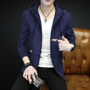 The spring and autumn male man Coat Jacket Mens Fashion slim handsome Korean autumn 2017 new new Hooded