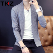 2017 spring and autumn Korean men thin sweater sweater cardigan sweater coat young men tide
