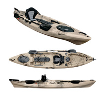 Kayak single plastic hard boat professional with rudder fishing boat canoe ocean boat L007 for two-person threesome boat
