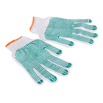 Barbecue anti-ironing gloves Labor protection Gloves cotton Yarn point plastic gloves anti-hot anti-cutting hand anti-skid gloves