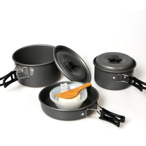 Genuine 2-3-person set pot outdoor camping stove cooker cookware 2-3 People high quality portable non-stick pot