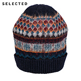 SI Ryder SELECTED wool blends color men's knit hat A|41546F002