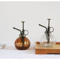 Zakka Vintage teinté verre arrosoir arrosage pot petit succulent bouilloire arrosage pot