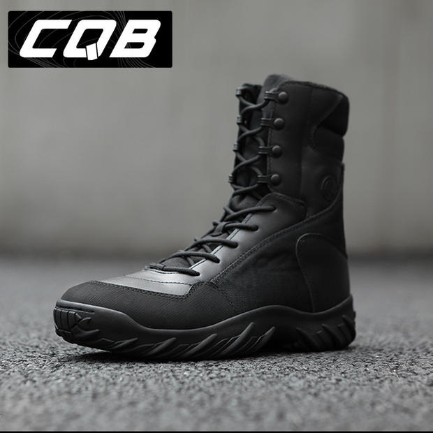 CQB 8 inch high-top combat boots Army fan boots special boots spring and autumn desert training tactical boots men