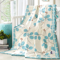 Purple orchid 100% cotton cool summer summer cotton quilts are air-conditioned by children's thin quilt can be washed