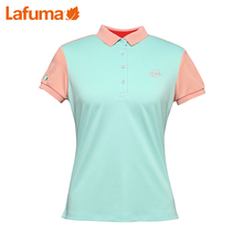 LAFUMA France Ms. Le Feiye outdoor elastic quick-drying sports POLO lapel short-sleeved T-shirt LFE06BC32