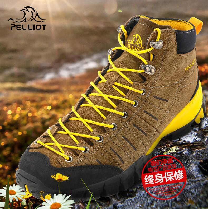 Birch and high-top climbing shoes men and women outdoor sports slip wear-resistant breathable waterproof light hiking shoes spring and summer
