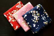 Japan and the wind handkerchief handkerchief slub cotton lady with flowers in rabbit 52*52cm