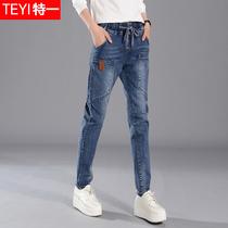 Cow-Boy décontractée printemps montrent pantalon version coréenne mince grande taille