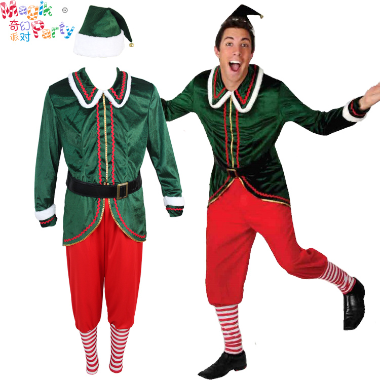 Christmas Adult Men's Costume Cosplay Performance Costume Peter Pan Green Elf Robin Hood