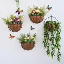 Nordic wall decorations wall hanging flower basket bedroom balcony wall small flower frame creative home decoration flowerpot