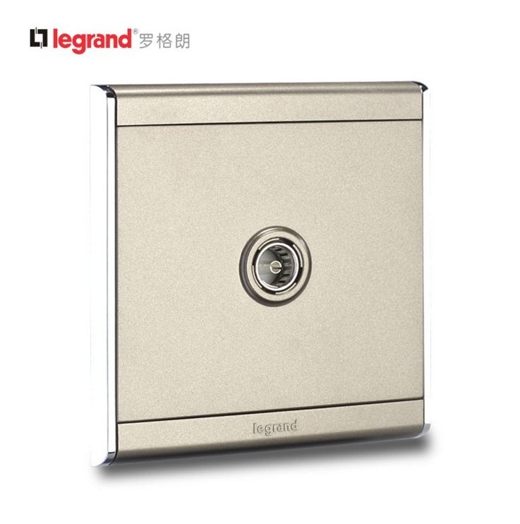 TCL Rogland Switch Socket Shangyun Satin Sand Gold 86 Cable TV Socket Panel Champagne Gold