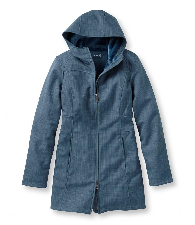 U.S. Direct Mail L.L. Bean TK290700 Mid-long Wind-proof Soft Shell Women's Wear for Autumn and Winter Warmth