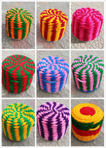 Yunnan Dali Weishan Creative Home minority characteristics Grass pier straw stool chair Straw mat number one Max
