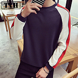 Spring t-shirt male long-sleeved Korean version of the loose underwear shirt men's young shirt young men's collar collar tide men clothes