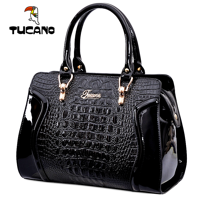 Woodpecker bag 2018 new women Genuine counters handbags shoulder messenger bag crocodile pattern ladies handbag