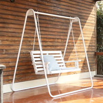 Swing Hanging chair indoor adult outdoor solid wood children swing rocking chair courtyard balcony Leisure couple Cradle Chair
