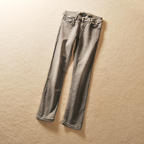 W41 high foreign trade single tail female low grey washed elastic jeans pencil pants small children 0.44kg