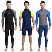 Diving suit male body sleeved swimsuit Shorts Size suit dry sunscreen clothing tight clothing snorkeling jellyfish