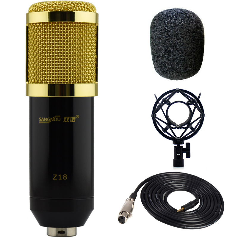 Double Connaught Z18 condenser microphone recording Mai computer network karaoke YY voice microphone recording equipment recording studio Double Connaught Z18 condenser microphone recording Mai computer network karaoke YY voice microphone recording equipment recording studio