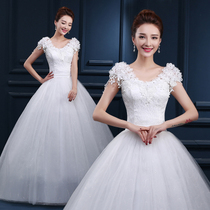 wedding dress 2016 new Korean Slim-shaped shoulder fashion large size shoulders bride wedding tail wedding