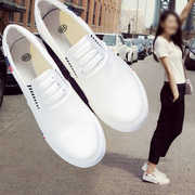 In the spring of 2017 canvas shoes shoes slip on loafer Korean flat white shoes casual shoes all-match students