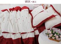 Foreign Trade original single quality cotton soft color woven embroidery Four pieces 1.5 bed 1.8 meter bed love language