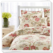 Original single quality cotton satin active printing four sets Passion Begonia flower 1.2 1.5 bed 1.8 bed multicolor