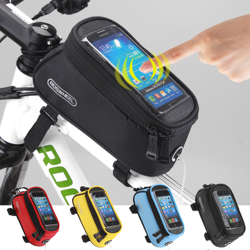 Le Hyun bicycle tube bag mountain bike bag front beam bag touch screen mobile phone bag saddle bag riding equipment accessories package
