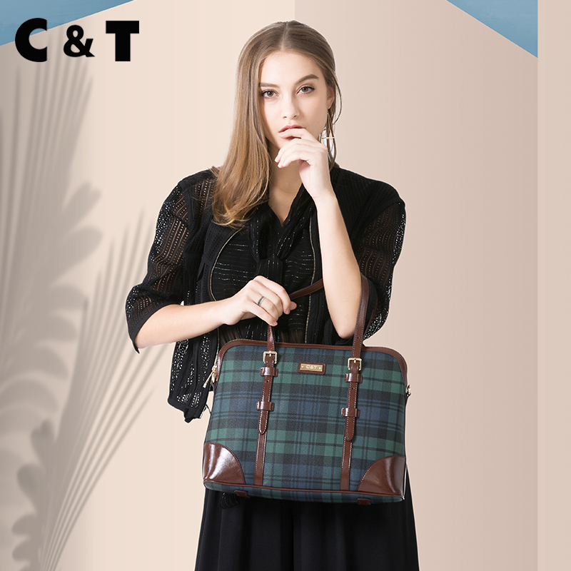 Hong Kong CT brand bag 2018 new wave briefcase child bag computer handbag shoulder slung big bag
