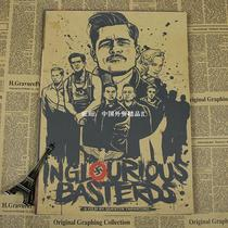 Vintage Classic Movie Inglourious Basterds Poster Cafe Bar H
