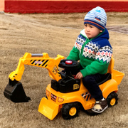 Large children's toy excavators can take people electric excavators, children can ride, ride engineering vehicles, 2-5-6 years old