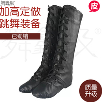 Pure leather Tibetan boots Mongol dance high waist boots Mongolian drama Boots male and female children adult leather Mongolian Horse Boots