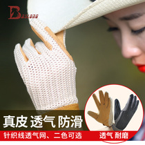 Spring and Autumn equestrian gloves riding gloves horseback riding gloves pig skin anti-skid wear-resistant breathable equestrian Equipment