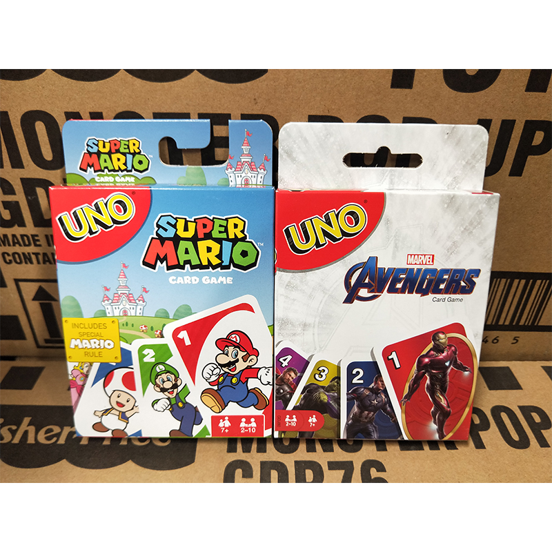Mattel UNO Uno Avengers Alliance Solitair TableTop Happy Table Game Card Game Toy Multiplayer Entertainment