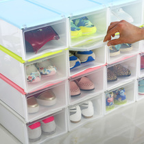 Wanfeng drawer combined colorful shoe box home flip cover storage shoe rack plastic large shoes finishing shoe