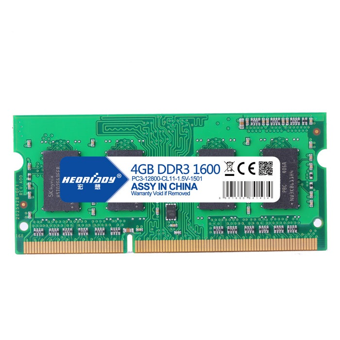 Hongxiang 4G DDR3 1600 notebook memory bar PC3L-12800 compatible 1333 support dual-pass