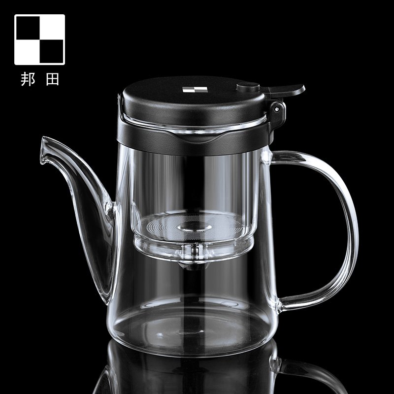Bonta full glass inner bile flowing cup can be disassembled office home glass teapot lazy people make tea set