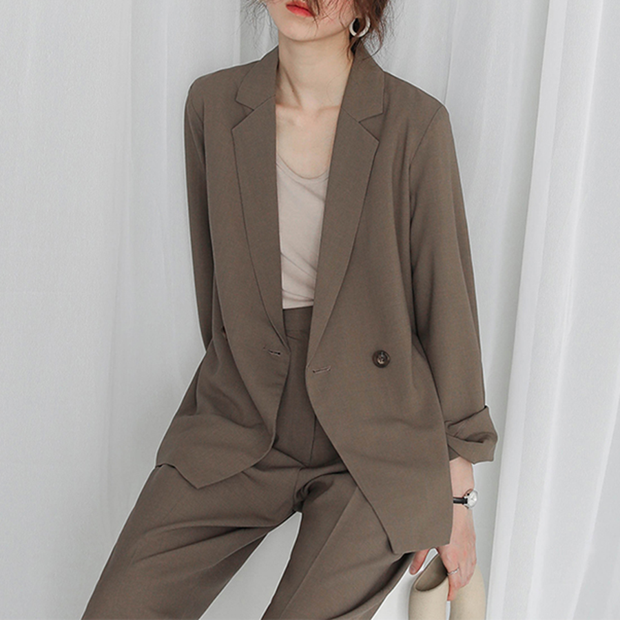 LOSTSOULS Japanese spring and summer suit vintage casual loose women korean chic small suit jacket women