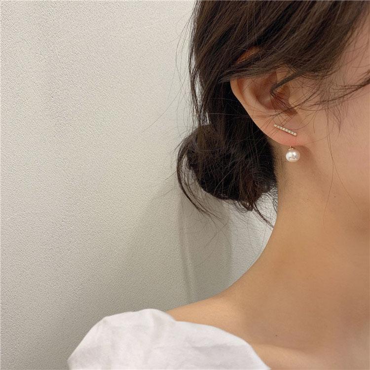 Mot perle boucles doreilles femme en argent sterling simple et compact 2020 nouvelle marée senior sens de la lumière luxe tempérament exquis boucles doreilles