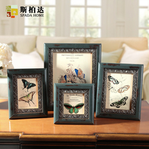 Solid wood box-style combination of creative photo photo frame table picture frame picture frame photo frames-bedroom vintage photo frame wall hanging