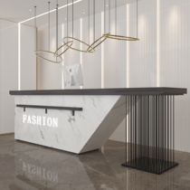 Simple modern imitation marble cashier counter High-end hotel atmosphere creative bar table Welcome reception