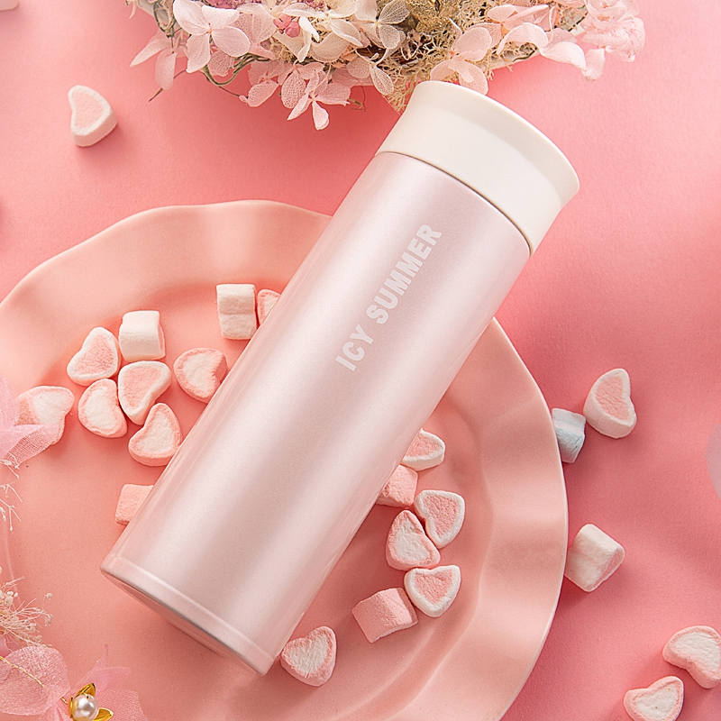 Huachuan Korean version of the vacuum cup female vacuum 316 stainless steel cup portable student cute cup custom lettering male