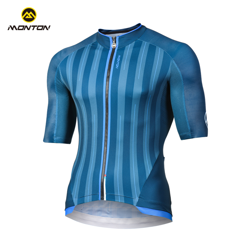 Monton cycling, Monton 18 years riding suit summer cycling short-sleeved men's quick-drying breathable wicking road mountain tight-fitting shield